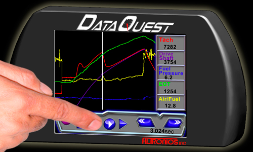 Drag Racing Data Logger Dash : Dataquest racing data logger and recording system for drag